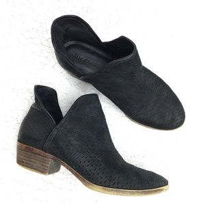 Lucky Brand - black Leather Ankle Booties